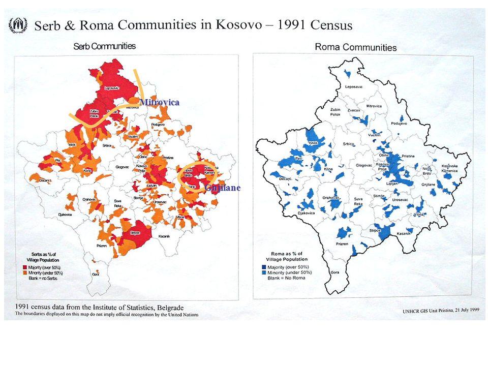 3.Albanais en 1994 % de la population totale par opstina (maillage de 1992) 2.