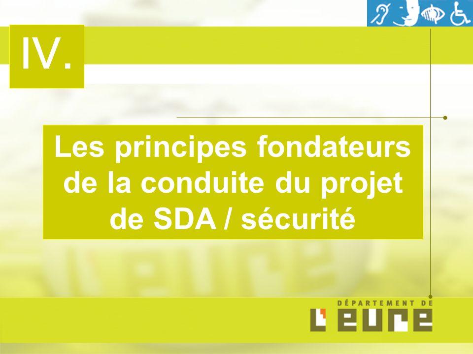 IV. Les principes fondateurs de la conduite du projet de SDA / sécurité