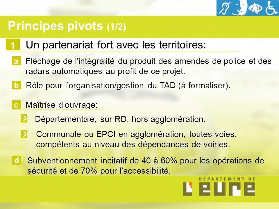 Un partenariat fort avec les territoires: Fléchage de lintégralité du produit des amendes de police et des radars automatiques au profit de ce projet.