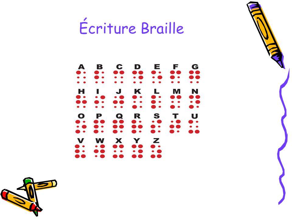 Écriture Braille