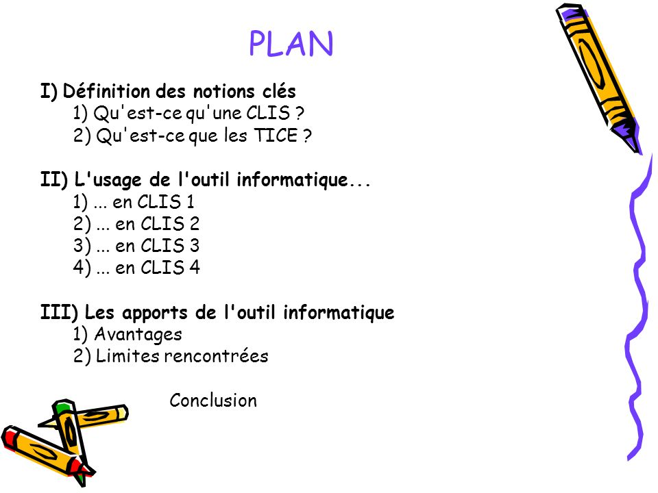 PLAN I) Définition des notions clés 1) Qu est-ce qu une CLIS .