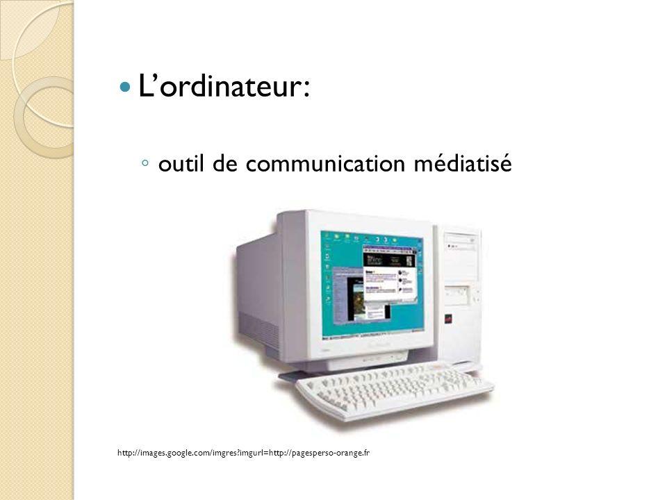 Lordinateur: outil de communication médiatisé http://images.google.com/imgres?imgurl=http://pagesperso-orange.fr