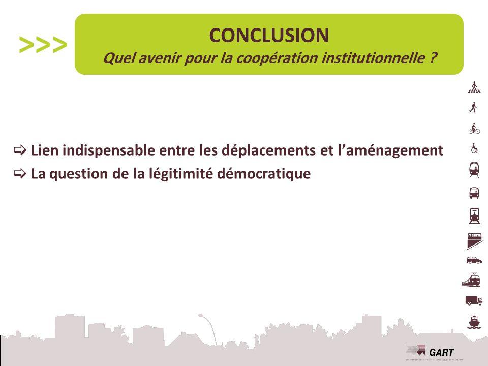 CONCLUSION Quel avenir pour la coopération institutionnelle .