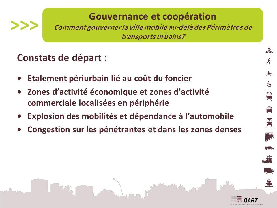 Gouvernance et coopération Comment gouverner la ville mobile au-delà des Périmètres de transports urbains.