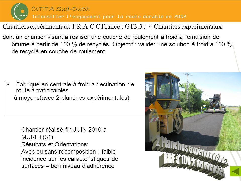 Intensifier l'engagement pour la route durable en 2012 Fabriqué en centrale à froid à destination de route à trafic faibles à moyens(avec 2 planches e