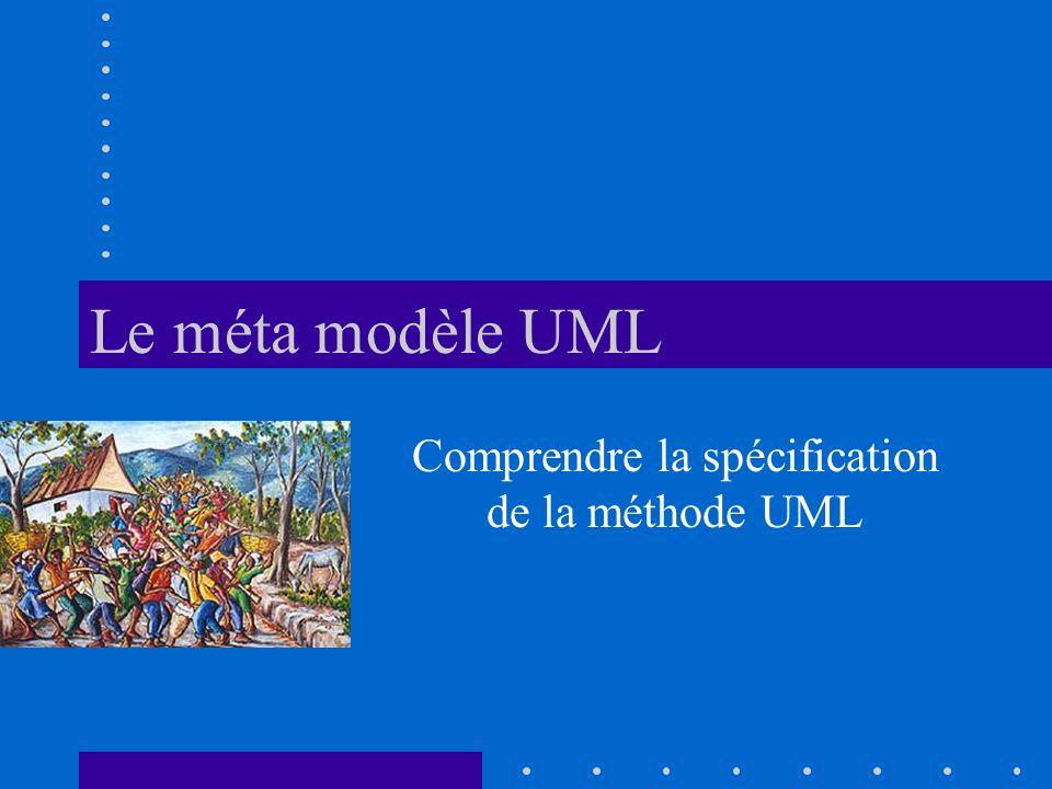 Le méta modèle UML Comprendre la spécification de la méthode UML
