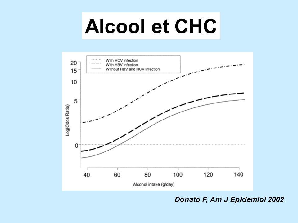 Donato F, Am J Epidemiol 2002 Alcool et CHC