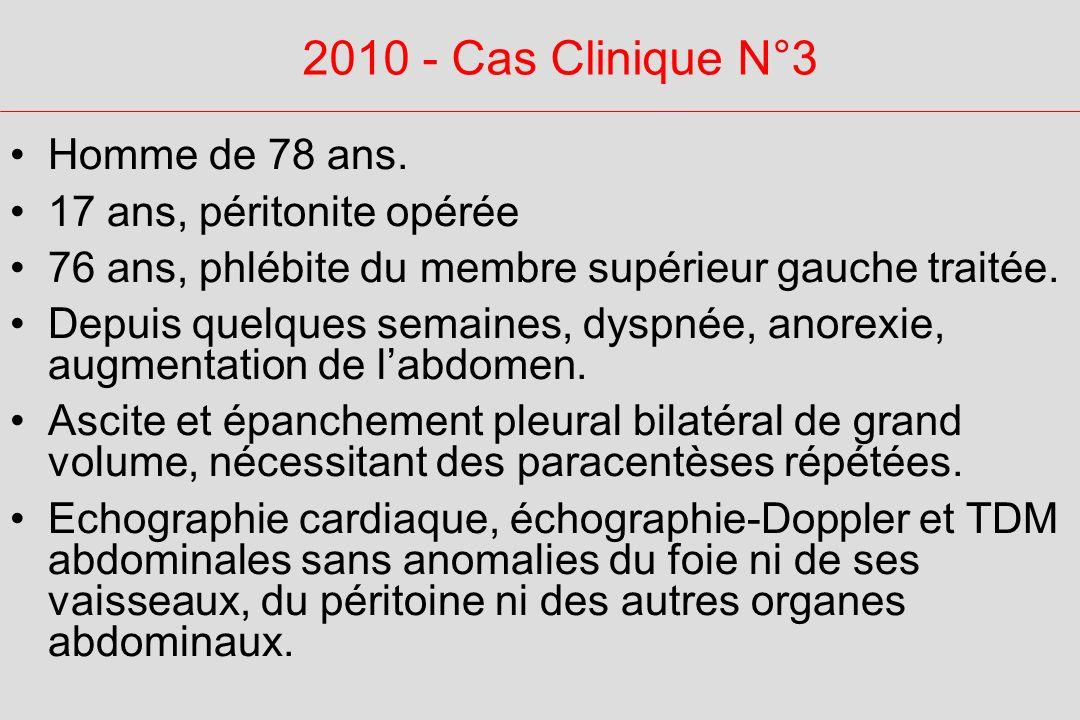 2010 - Cas Clinique N°3 Homme de 78 ans.