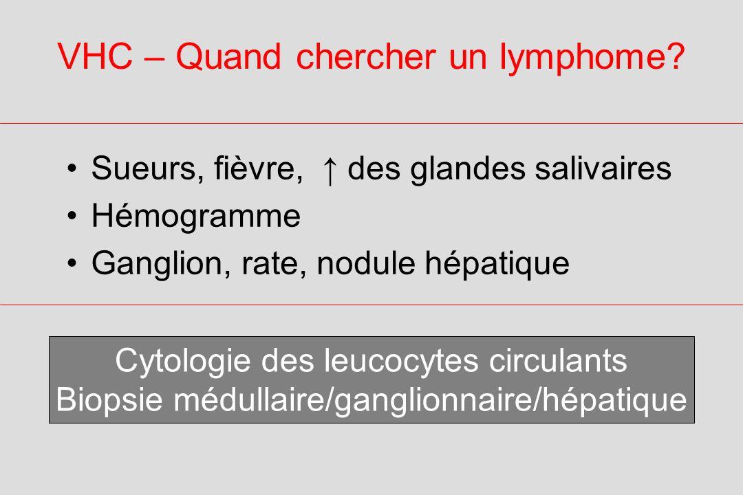 VHC – Quand chercher un lymphome.