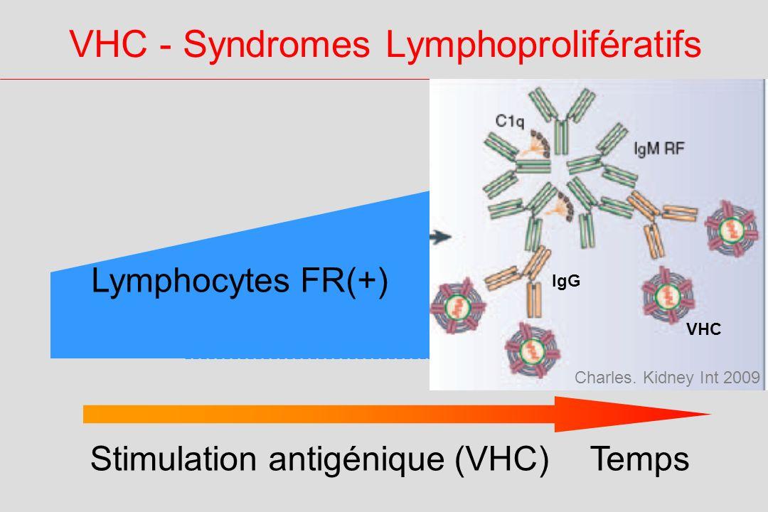 VHC - Syndromes Lymphoprolifératifs TempsStimulation antigénique (VHC) Lymphocytes FR(+) Cryo mixte VHC IgG Charles.