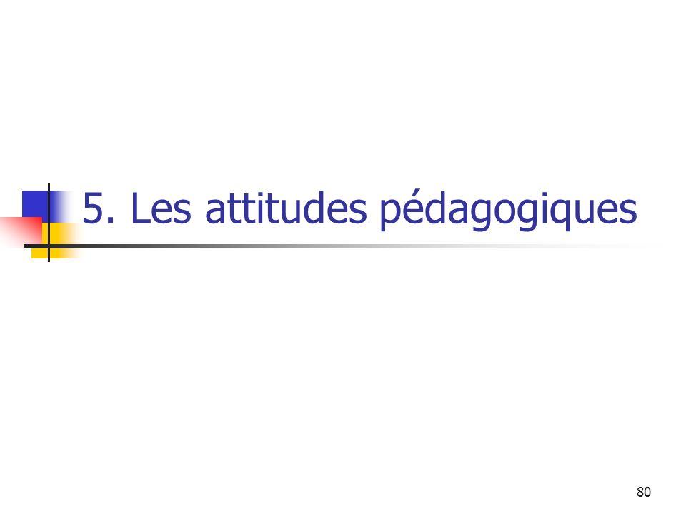 80 5. Les attitudes pédagogiques