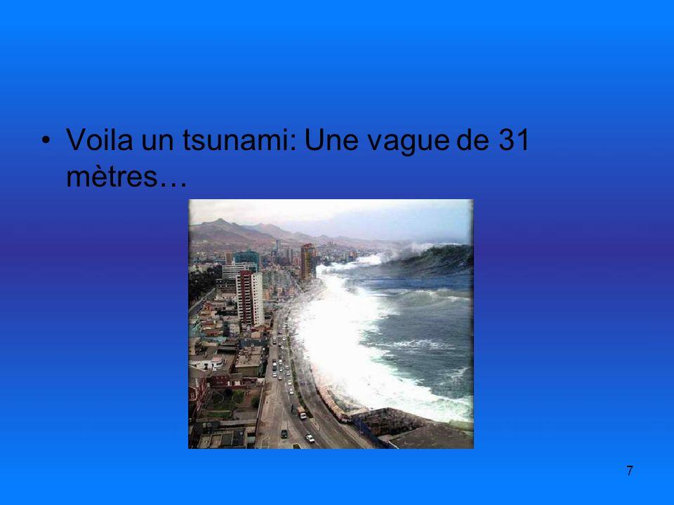 7 Voila un tsunami: Une vague de 31 mètres…