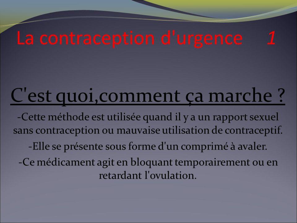 La contraception d urgence 2 Quelle est son efficacité .