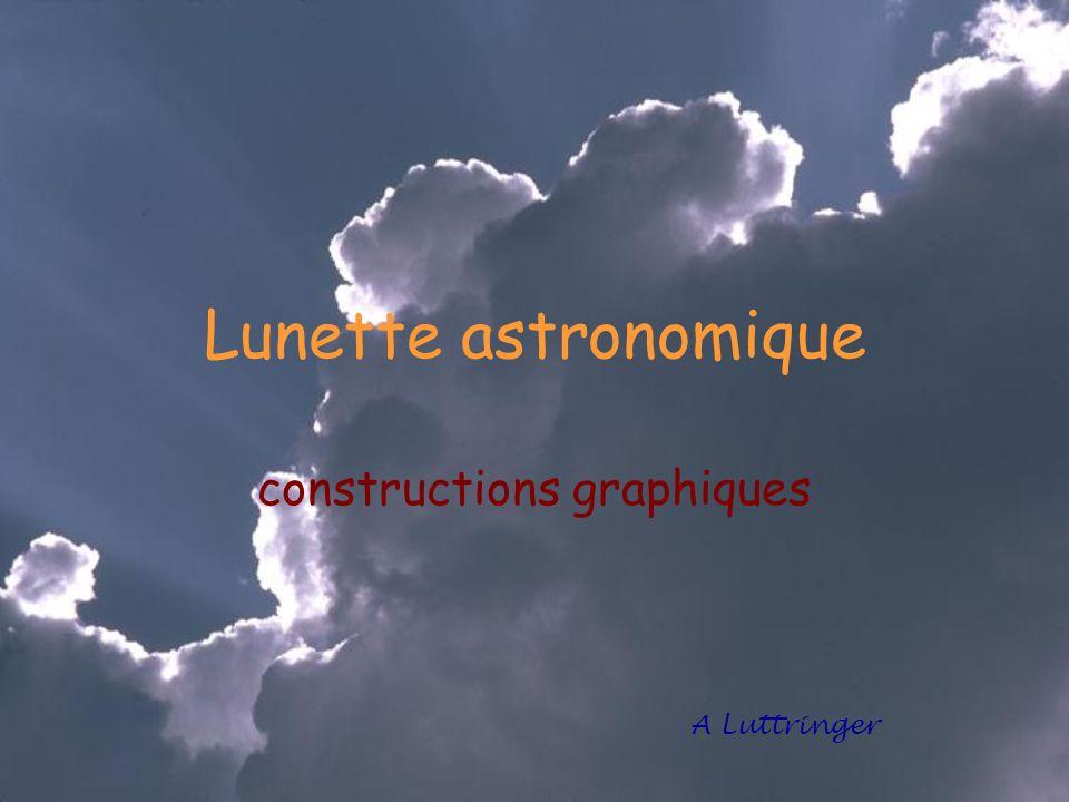 Lunette astronomique constructions graphiques A Luttringer