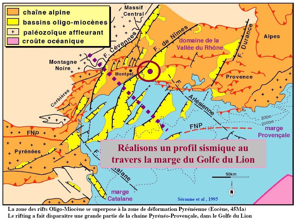 Réalisons un profil sismique au travers la marge du Golfe du Lion
