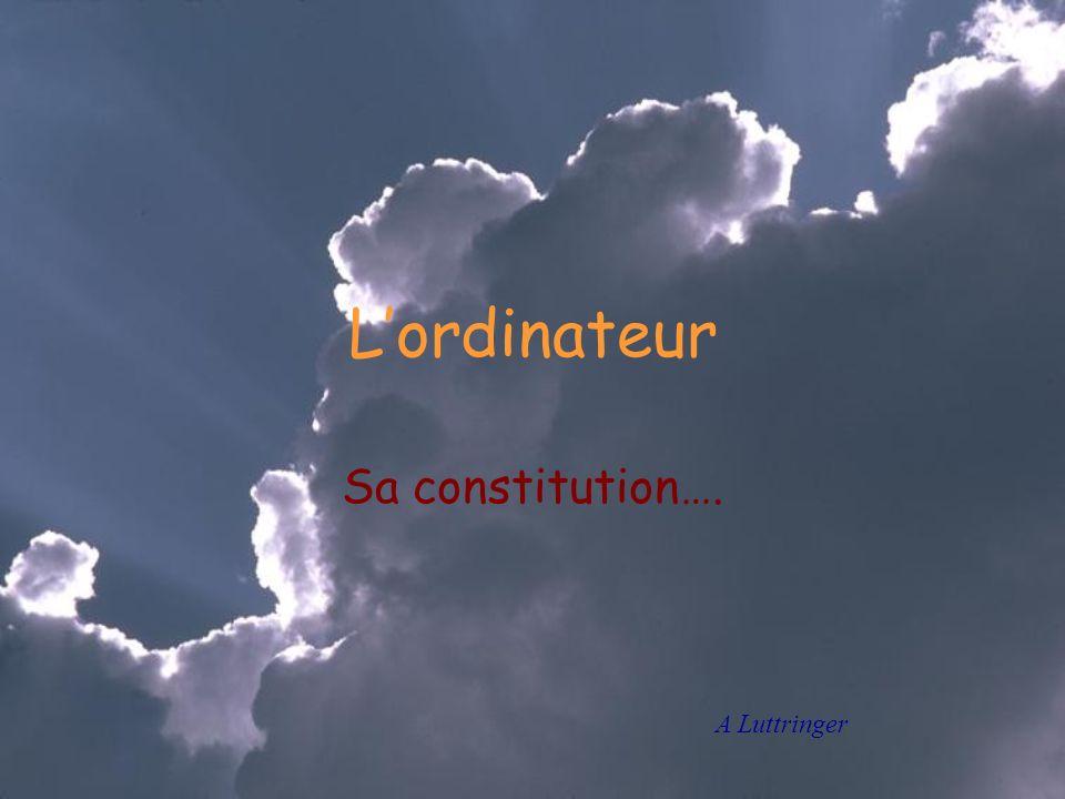 Lordinateur Sa constitution…. A Luttringer