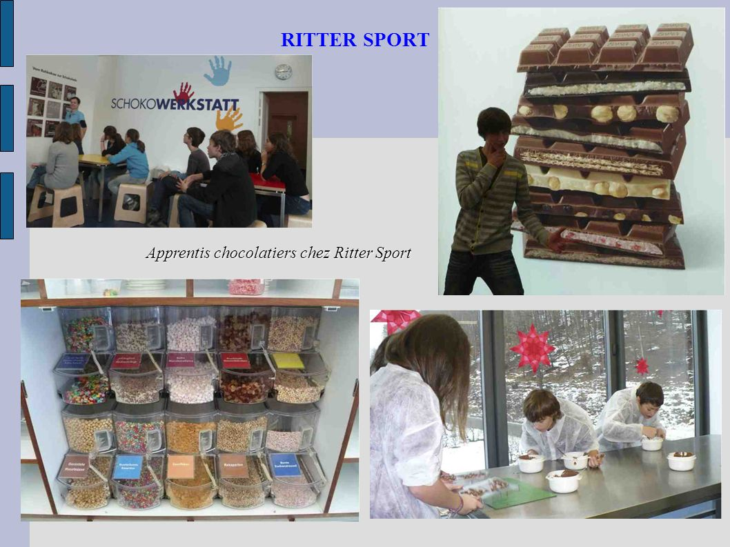 RITTER SPORT Apprentis chocolatiers chez Ritter Sport