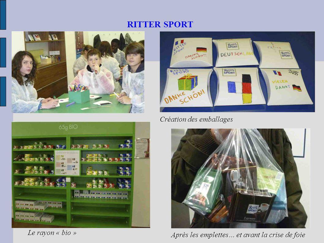 RITTER SPORT Création des emballages Le rayon « bio » Après les emplettes… et avant la crise de foie