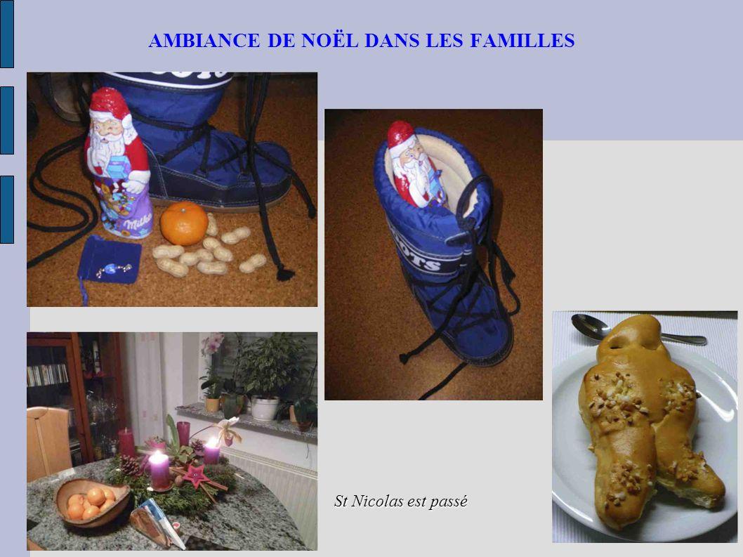 AMBIANCE DE NOËL DANS LES FAMILLES St Nicolas est passé
