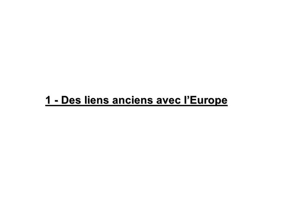 1 - Des liens anciens avec lEurope