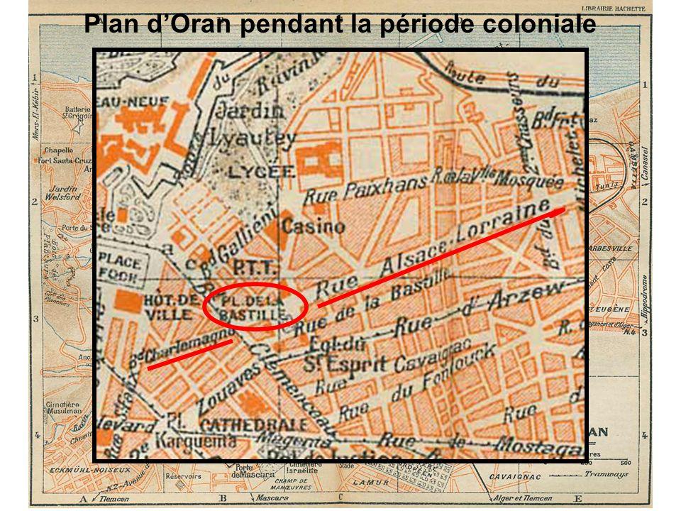 Plan dOran pendant la période coloniale