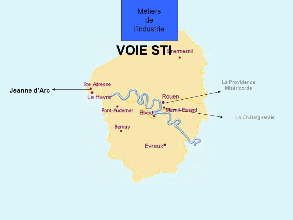 VOIE STI Jeanne dArc La Châtaigneraie La Providence Miséricorde Métiers de lindustrie