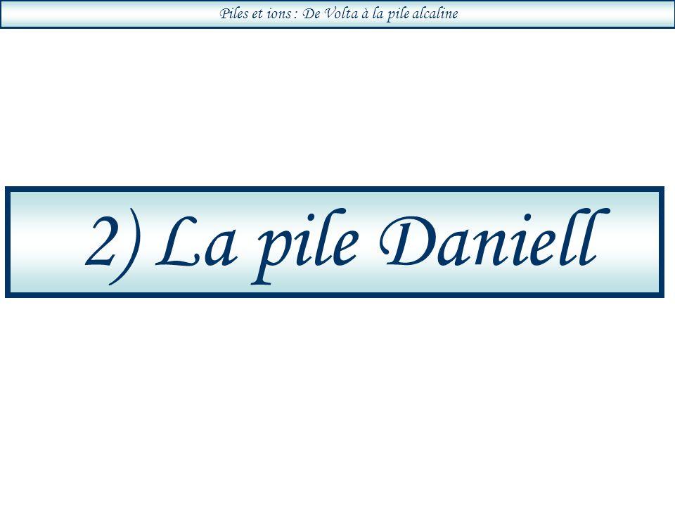 Piles et ions : De Volta à la pile alcaline 2) La pile Daniell