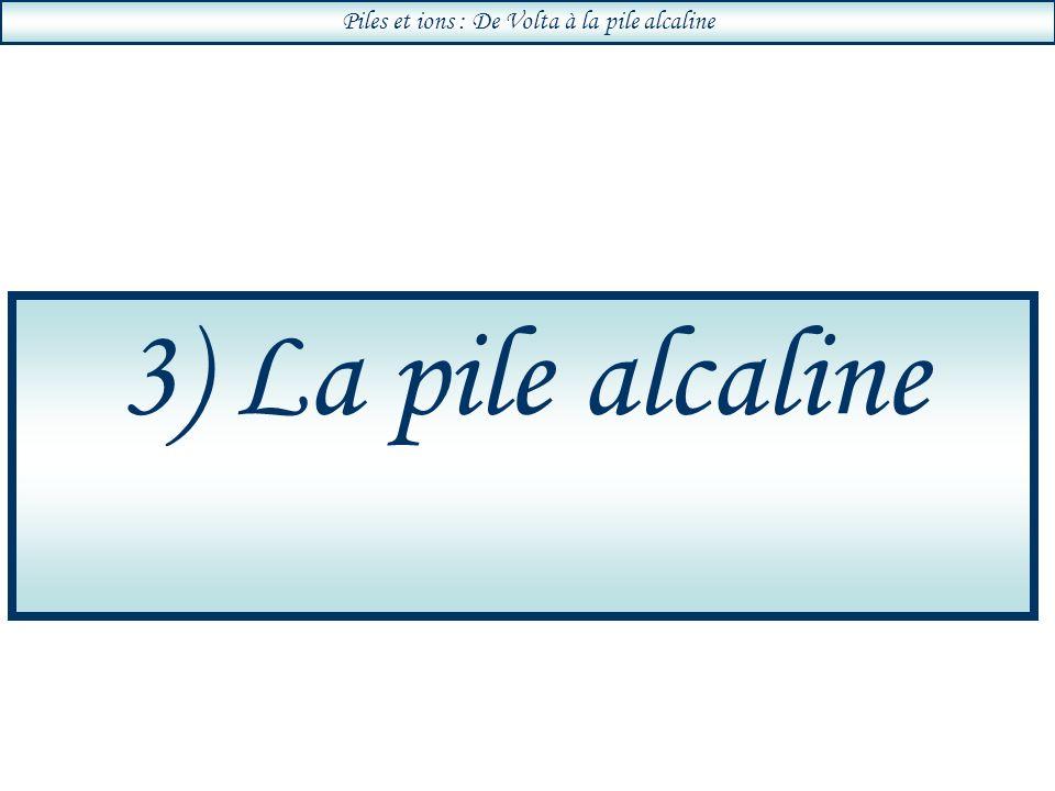 Piles et ions : De Volta à la pile alcaline 3) La pile alcaline