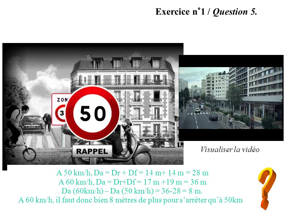 Exercice n°2 / Question 1.