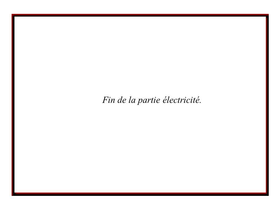 Fin de la partie électricité.