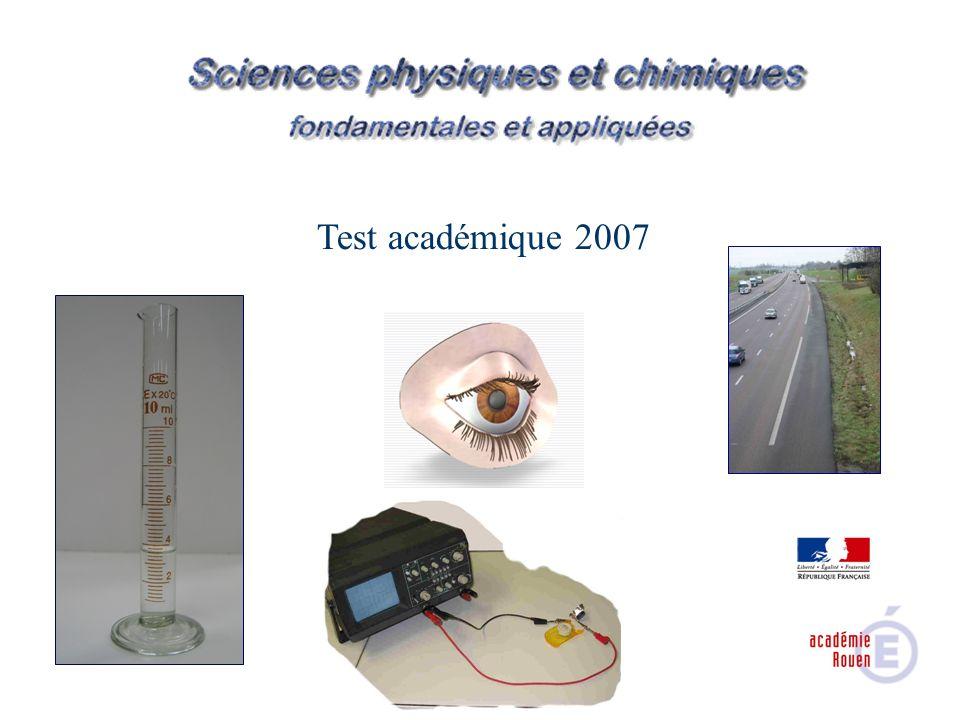 Test académique 2007