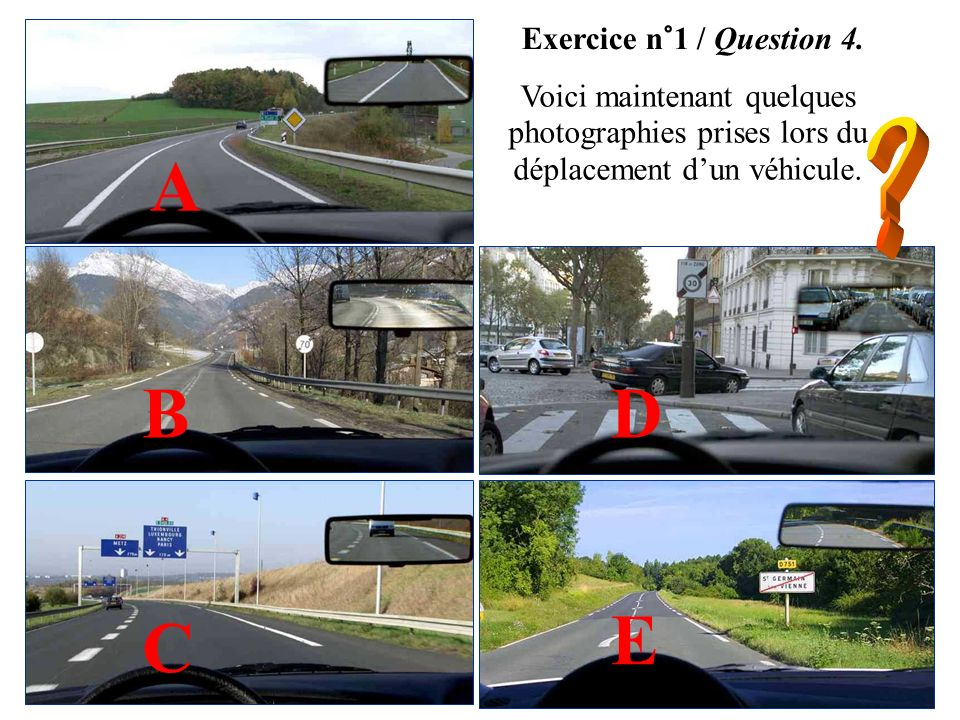Exercice n°1 / Question 3. Le relevé des vitesses au cours du déplacement dun mobile permet de construire le graphique ci-dessous. Phase 1 Phase 2 Pha