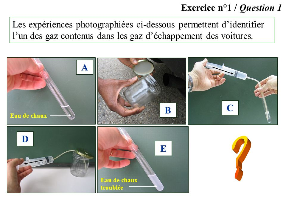 Exercice n°1 / Question 1.
