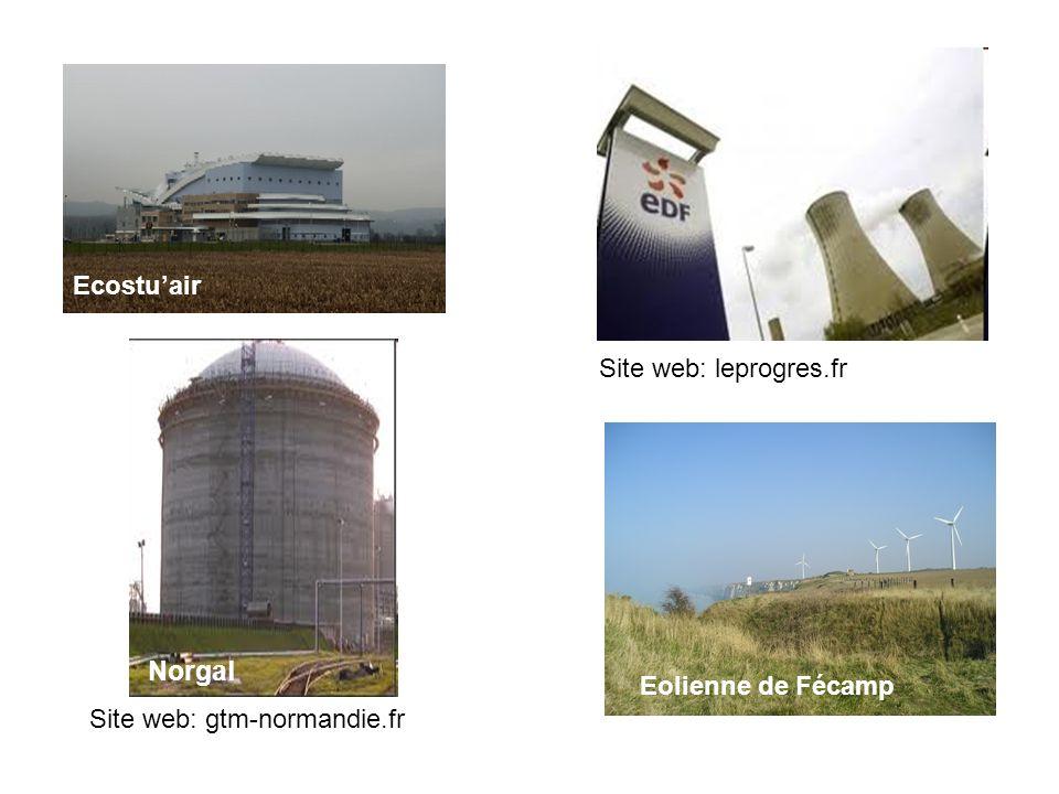Ecostuair Norgal Eolienne de Fécamp Site web: gtm-normandie.fr Site web: leprogres.fr