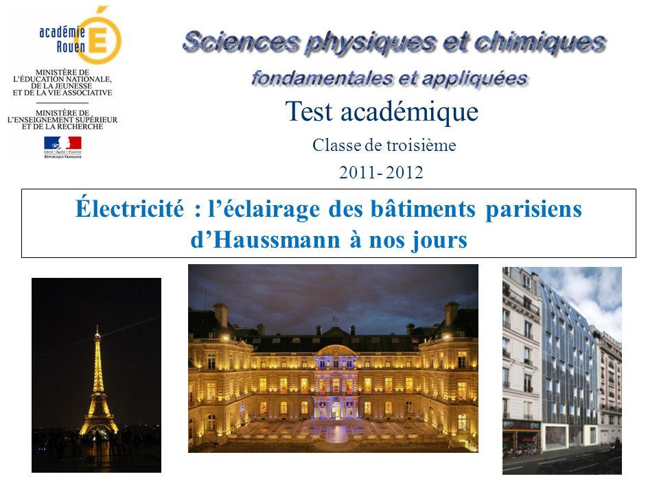 Les débuts de lélectricité dans Paris À la fin du XIX e siècle, les rues parisiennes sont encore éclairées au gaz, mais dans certains lieux comme lOpéra, lhippodrome ou de grands magasins, des machines à vapeur ont été installées.