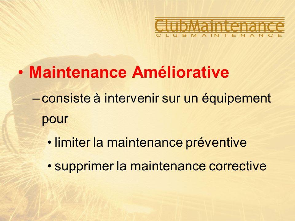 –consiste à intervenir sur un équipement pour limiter la maintenance préventive supprimer la maintenance corrective