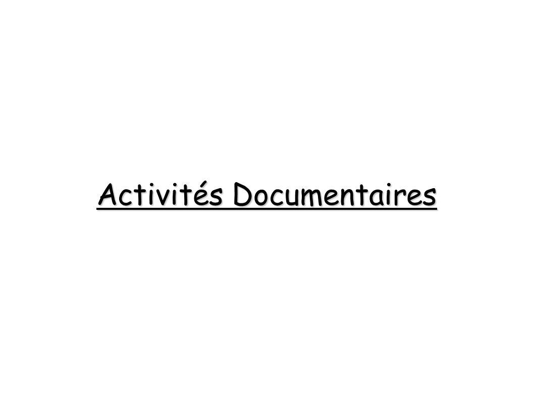Activités Documentaires