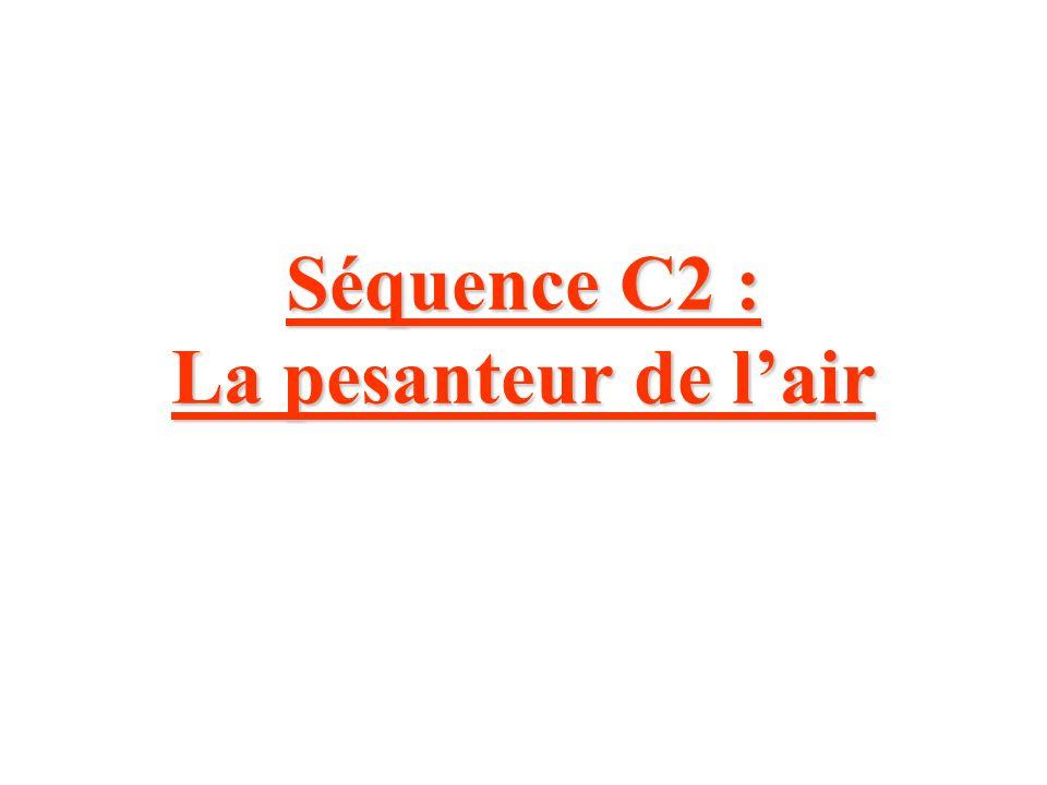 Séquence C2 : La pesanteur de lair