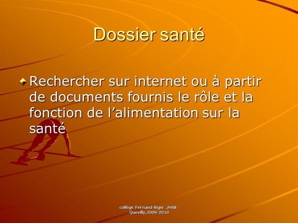 Dossier santé Rechercher sur internet ou à partir de documents fournis le rôle et la fonction de lalimentation sur la santé