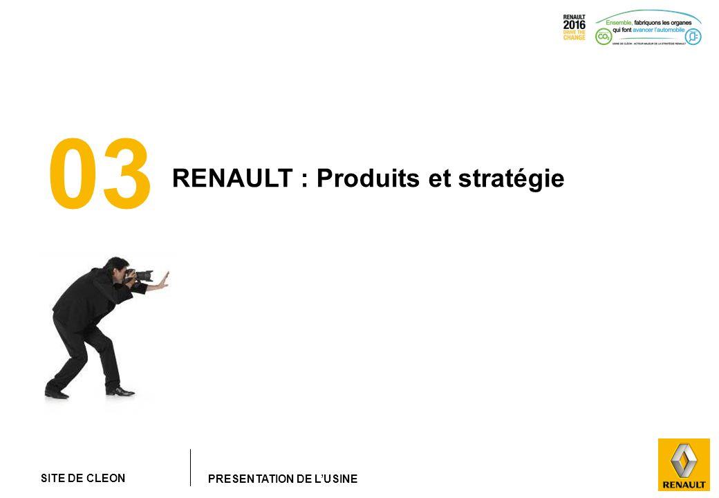 SITE DE CLEON PRESENTATION DE LUSINE 03 RENAULT : Produits et stratégie