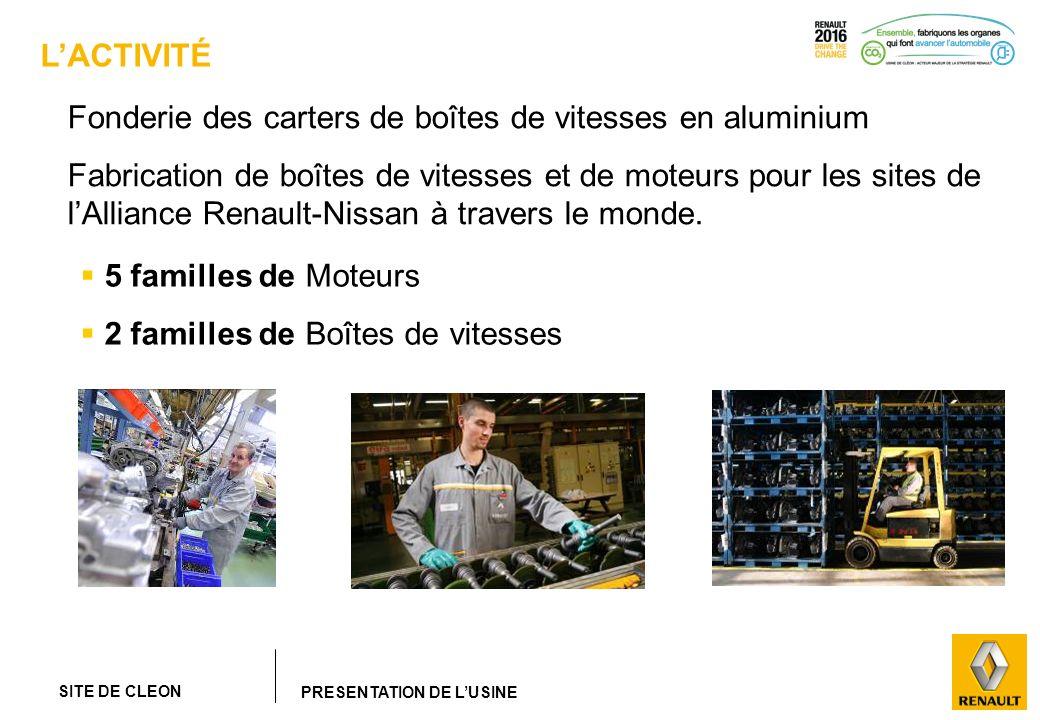 SITE DE CLEON PRESENTATION DE LUSINE LACTIVITÉ Fonderie des carters de boîtes de vitesses en aluminium Fabrication de boîtes de vitesses et de moteurs