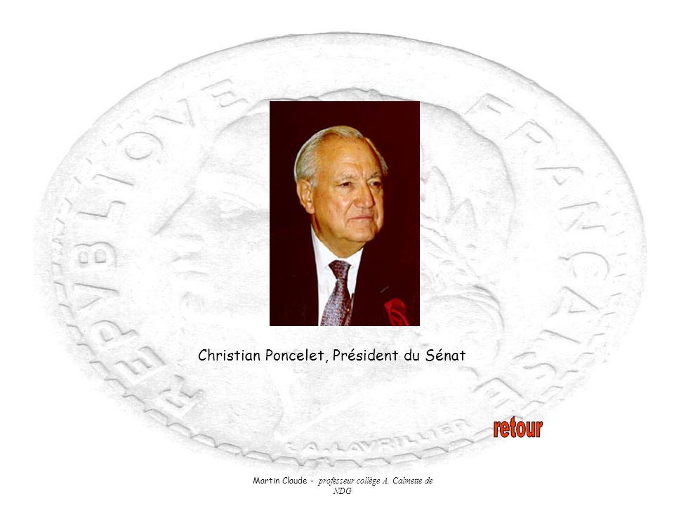 Martin Claude - professeur collège A. Calmette de NDG Christian Poncelet, Président du Sénat