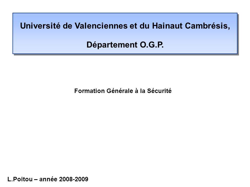 Université de Valenciennes et du Hainaut Cambrésis, Département O.G.P.