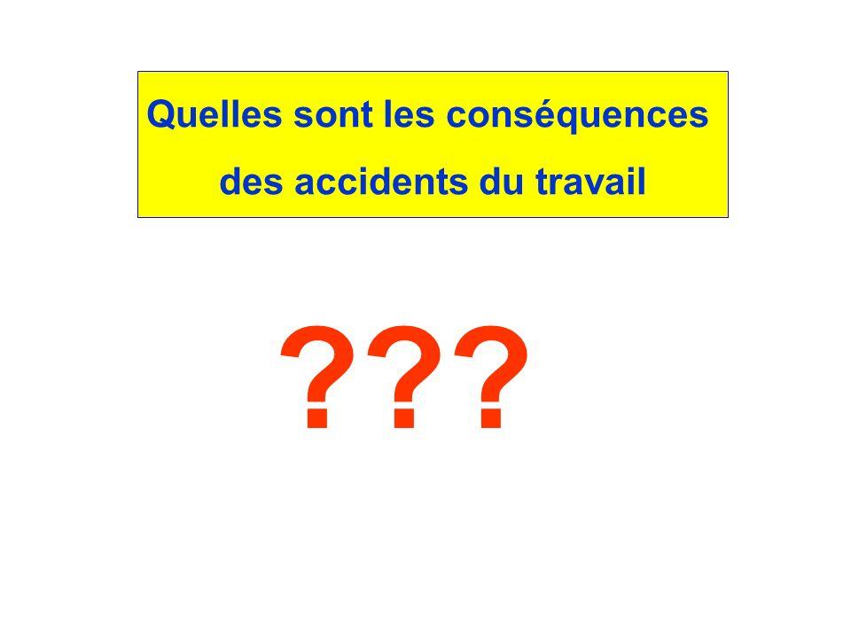 Quelles sont les conséquences des accidents du travail