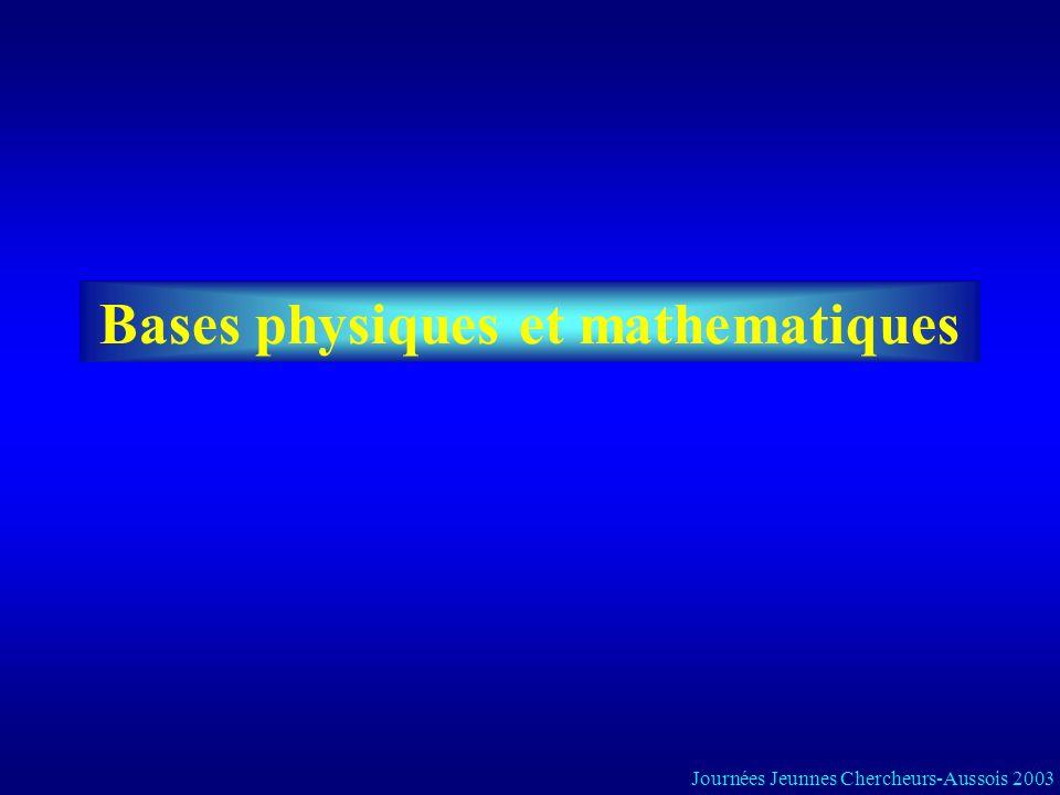 Bases physiques et mathematiques Journées Jeunnes Chercheurs-Aussois 2003