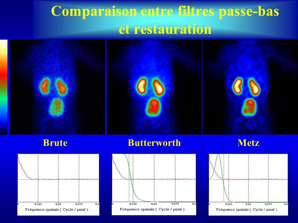 BruteButterworthMetz Comparaison entre filtres passe-bas et restauration