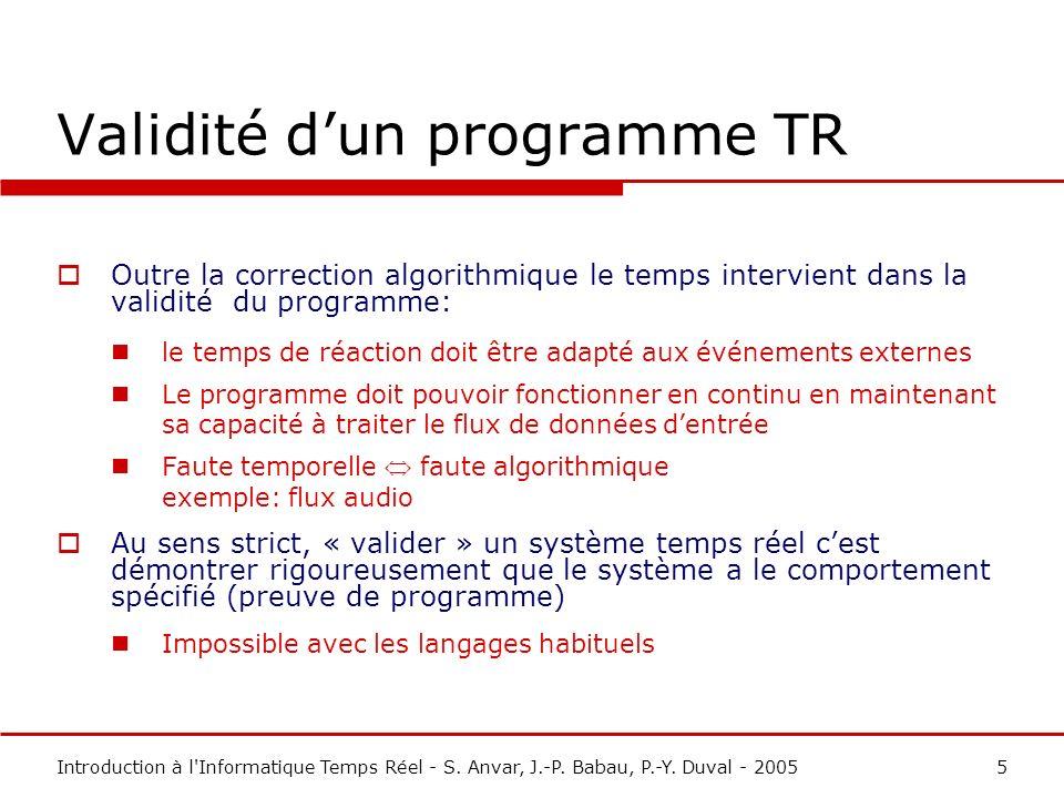 Introduction à l Informatique Temps Réel - S.Anvar, J.-P.