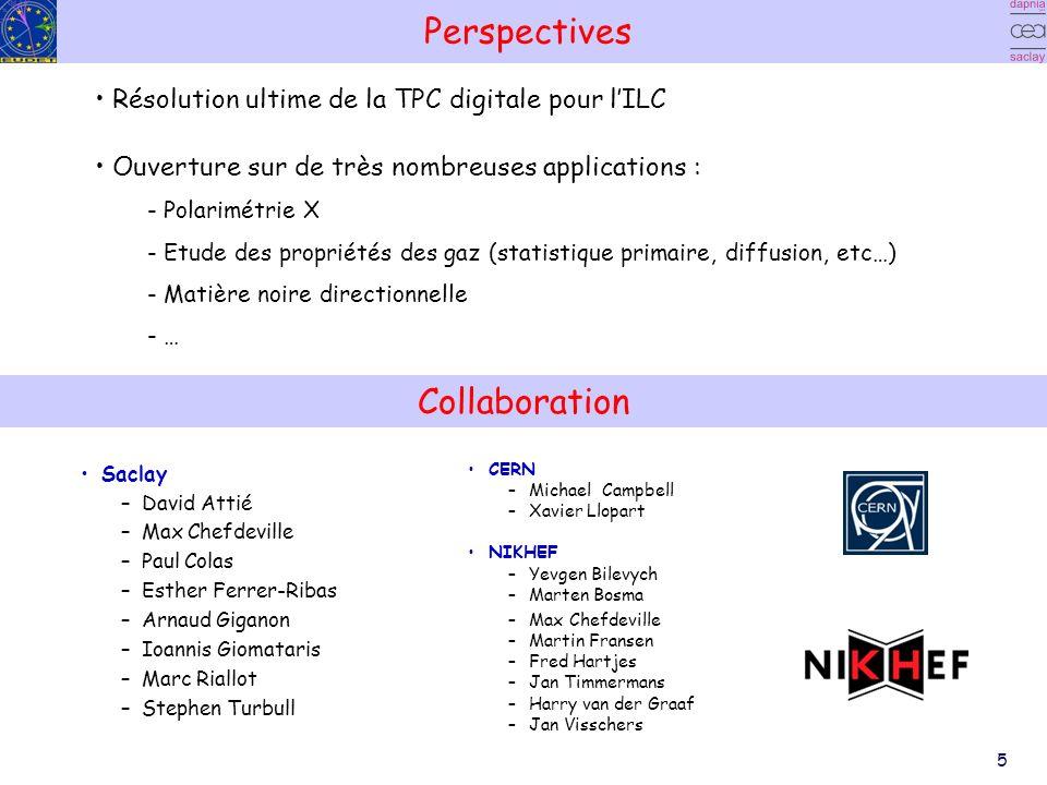 5 Perspectives Saclay –David Attié –Max Chefdeville –Paul Colas –Esther Ferrer-Ribas –Arnaud Giganon –Ioannis Giomataris –Marc Riallot –Stephen Turbul