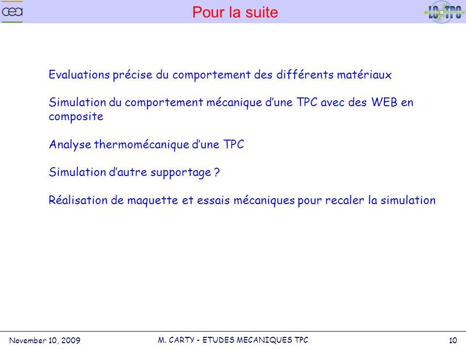 Pour la suite November 10, 2009 10 M.