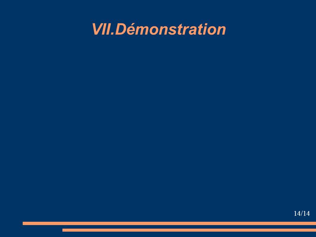 VII.Démonstration 14/14